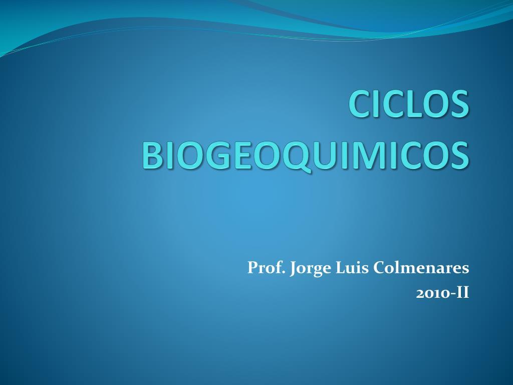 CICLOS BIOGEOQUIMICOS