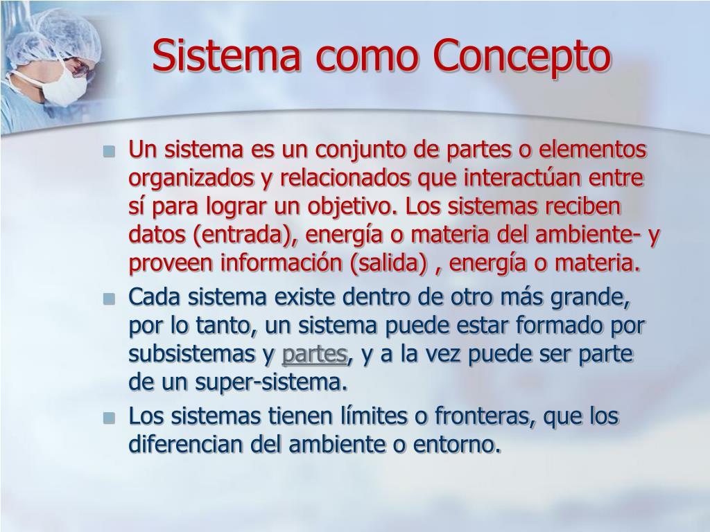 Sistema como Concepto