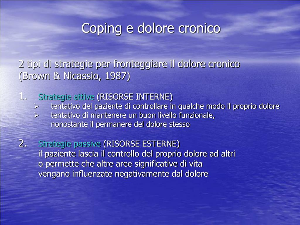 Coping e dolore cronico