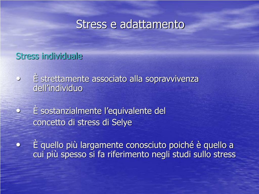 Stress e adattamento