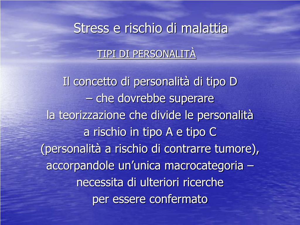 Stress e rischio di malattia