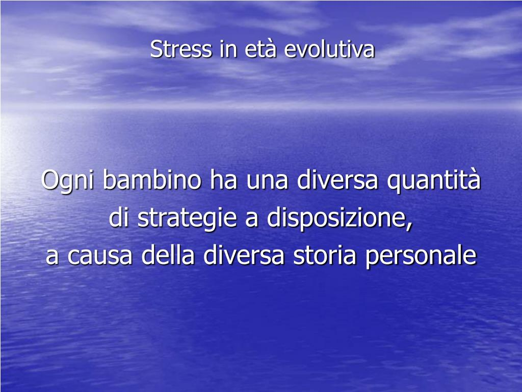 Stress in età evolutiva