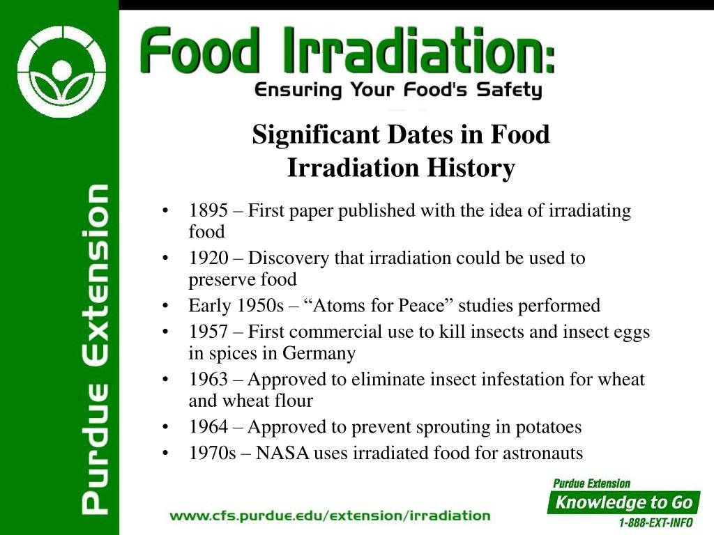1895 – First paper published with the idea of irradiating food