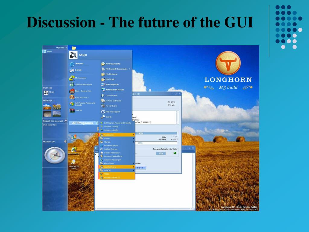 Discussion - The future of the GUI