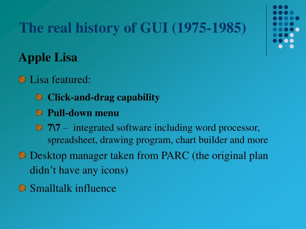 The real history of GUI (1975-1985)