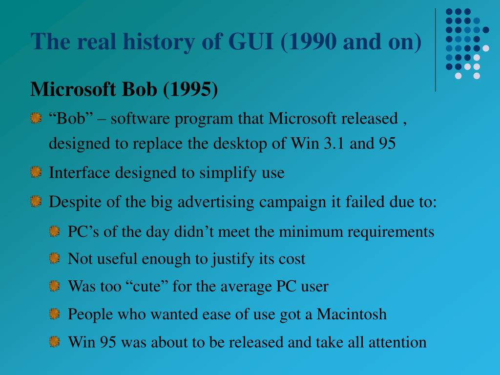 The real history of GUI (1990 and on)