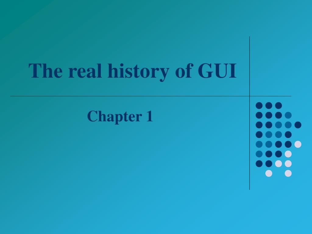 The real history of GUI