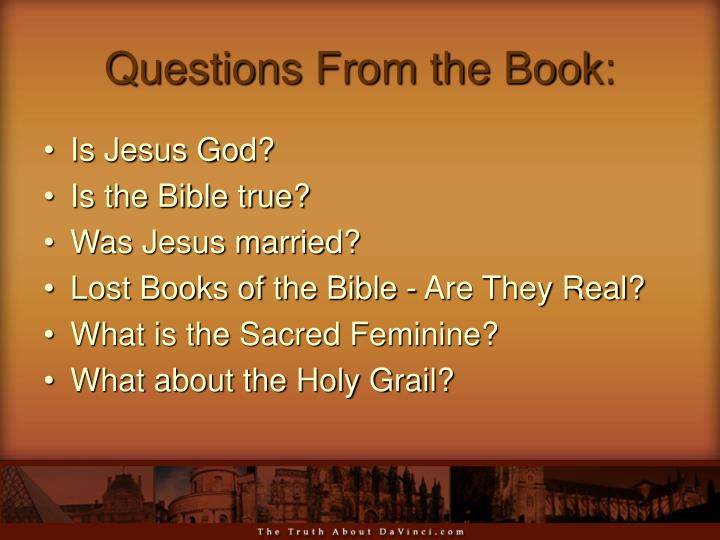 Questions from the book