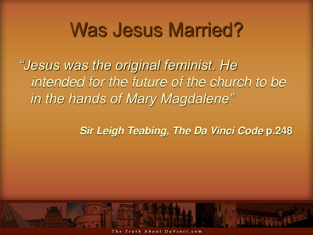 Was Jesus Married?