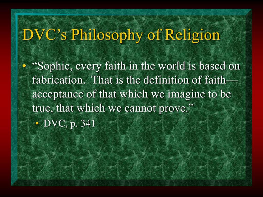 DVC's Philosophy of Religion