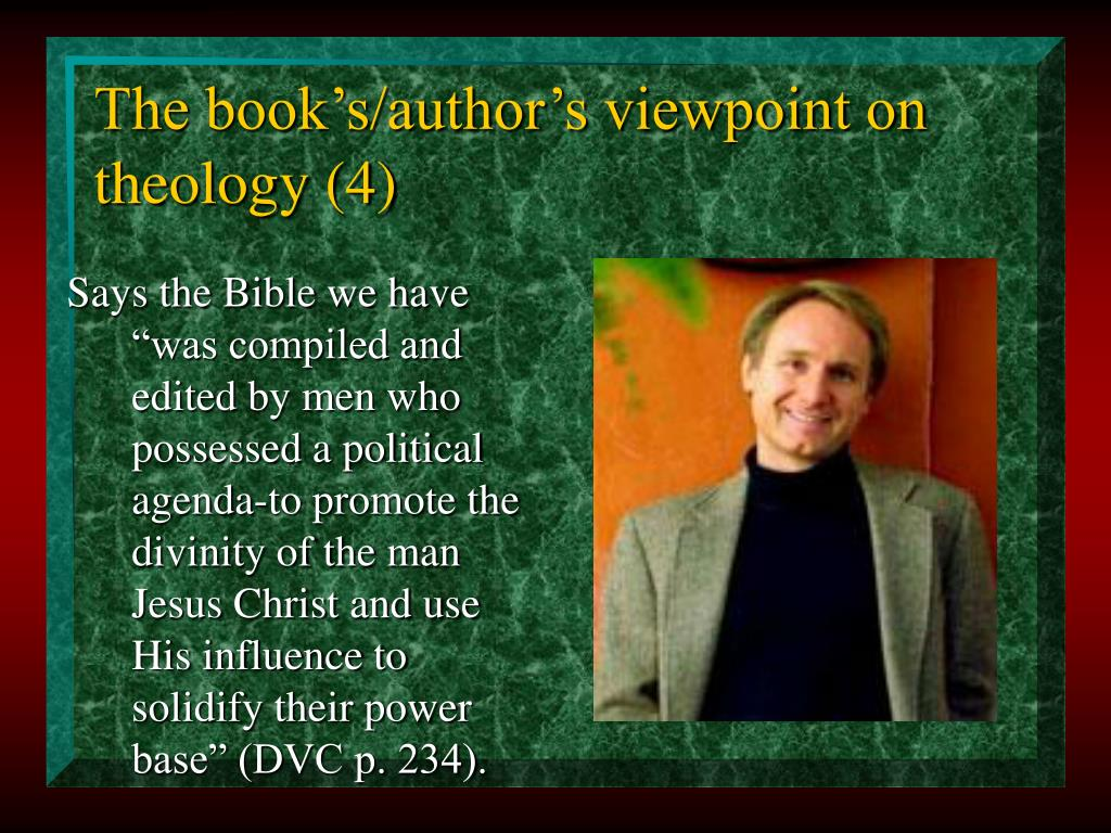 The book's/author's viewpoint on theology (4)