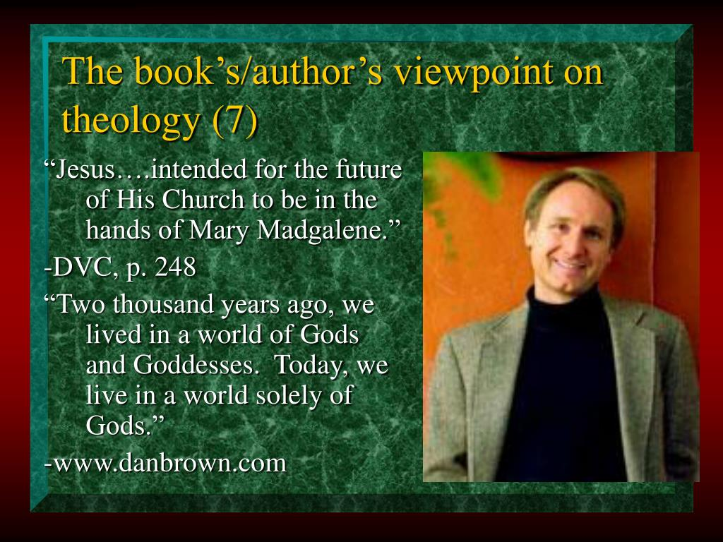 The book's/author's viewpoint on theology (7)