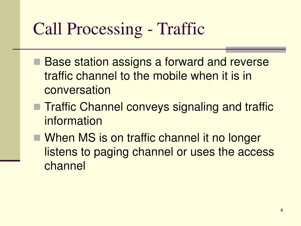 Call Processing - Traffic