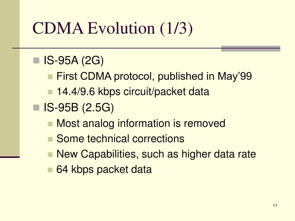 CDMA Evolution (1/3)