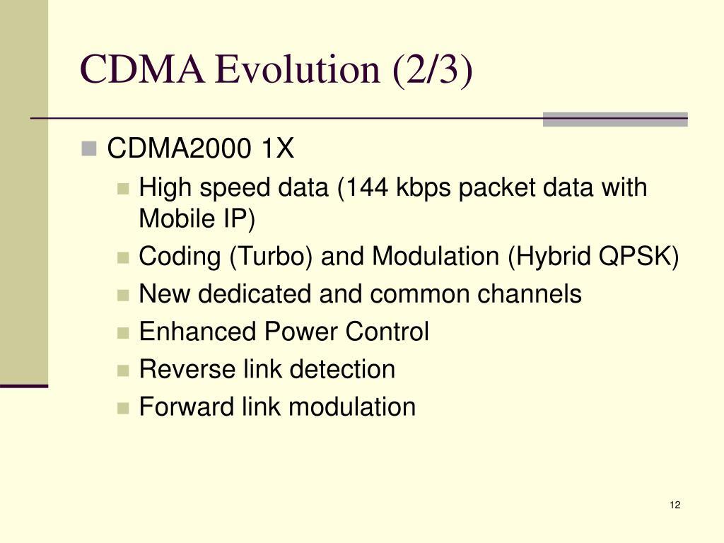 CDMA Evolution (2/3)