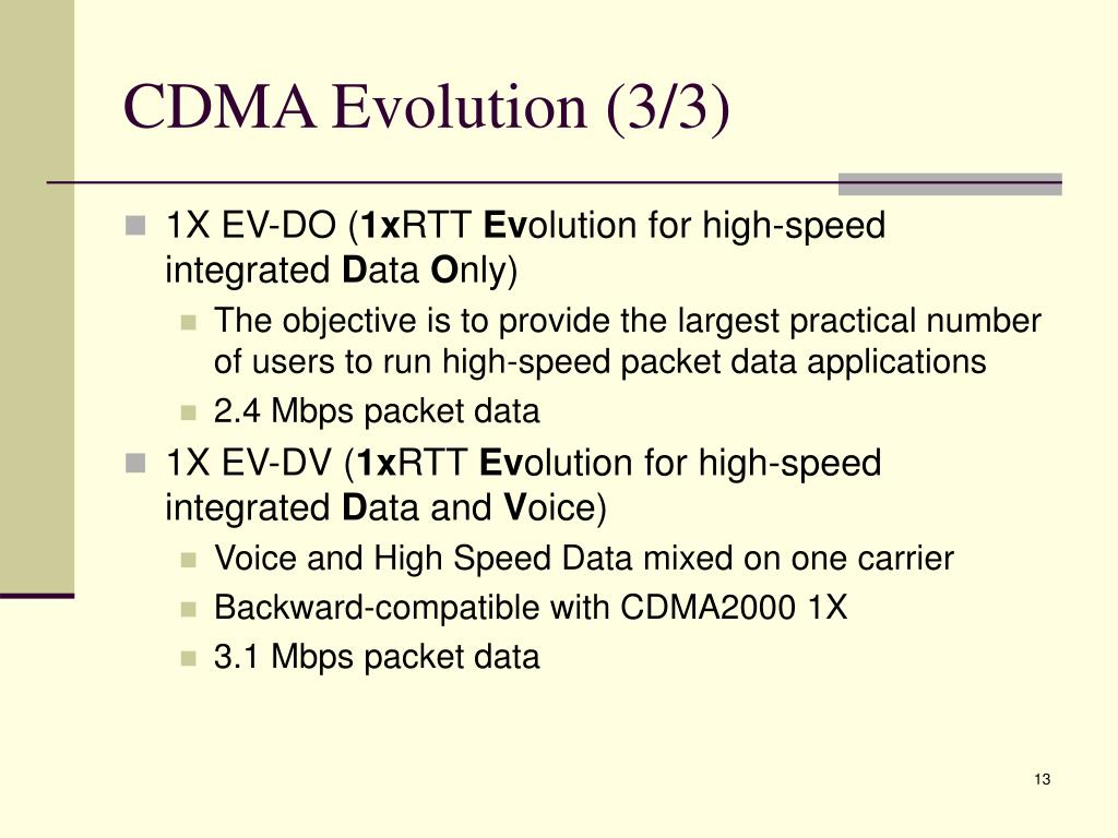 CDMA Evolution (3/3)