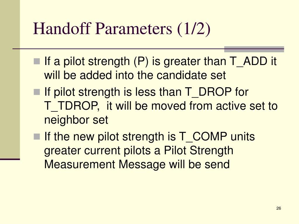 Handoff Parameters (1/2)