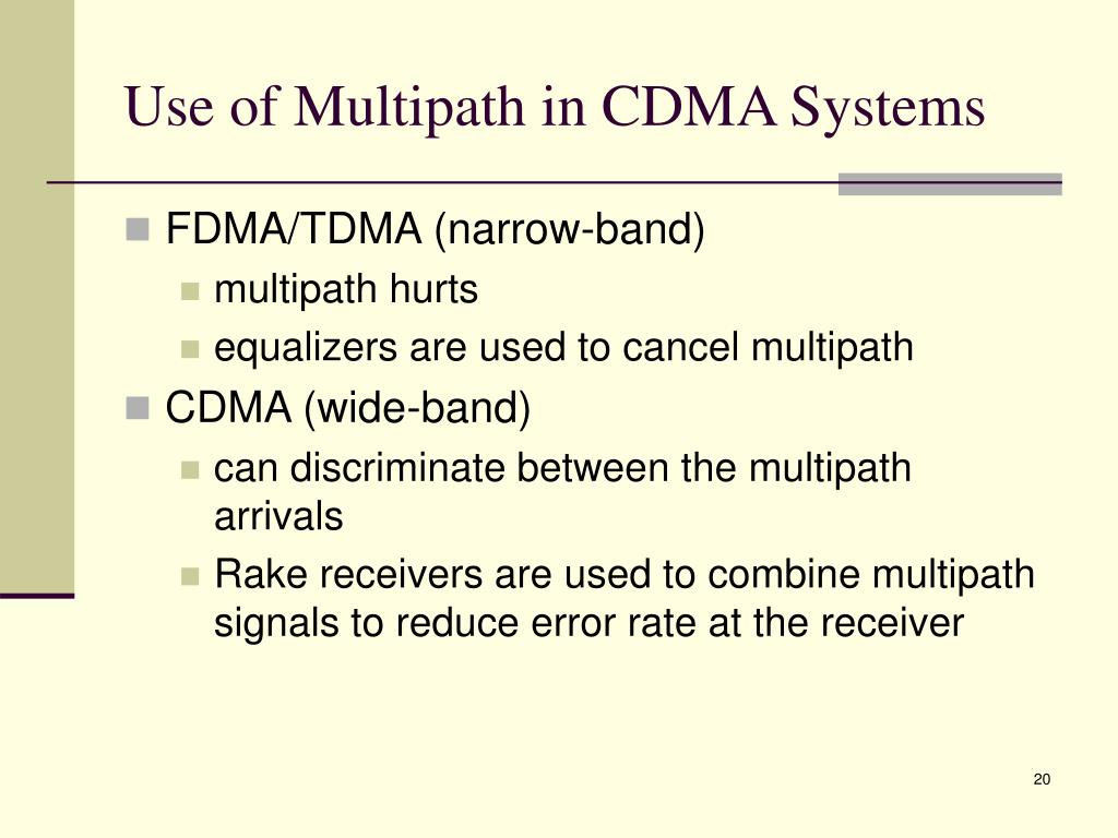 Use of Multipath in CDMA Systems