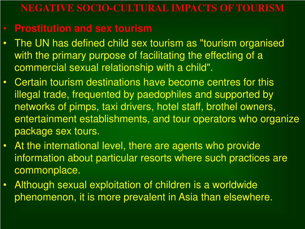 the potential positive and negative socio cultural impacts tourism essay If not well planned and controlled, tourism may generate negative impacts or reduce the feasibility of multiplier effect on local economy let us briefly look at some of these.