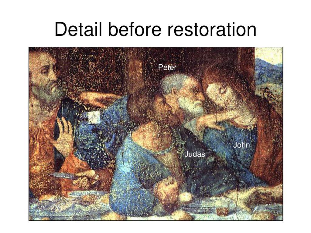 Detail before restoration