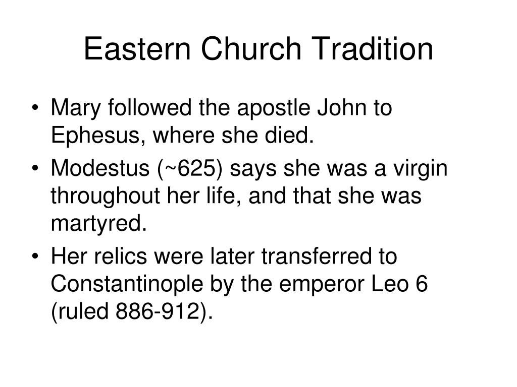 Eastern Church Tradition