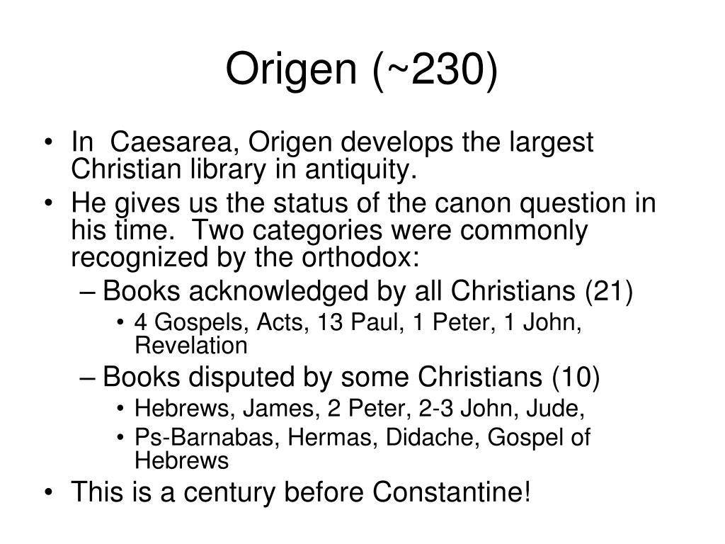 Origen (~230)