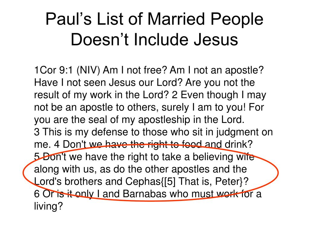 Paul's List of Married People