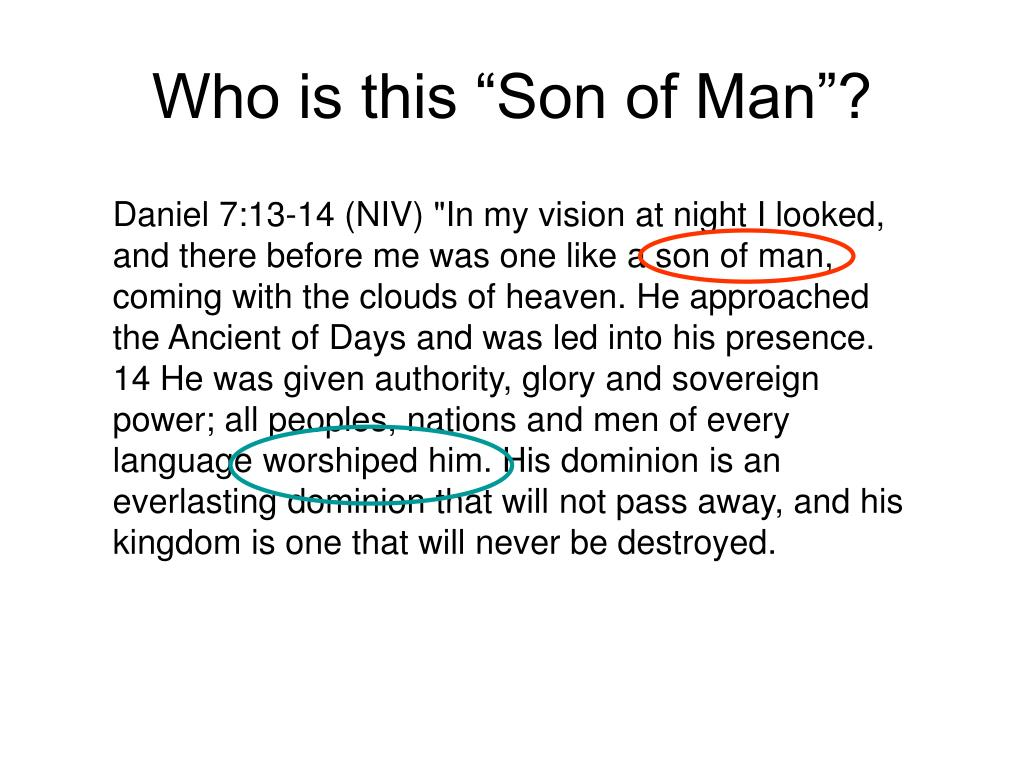 "Who is this ""Son of Man""?"