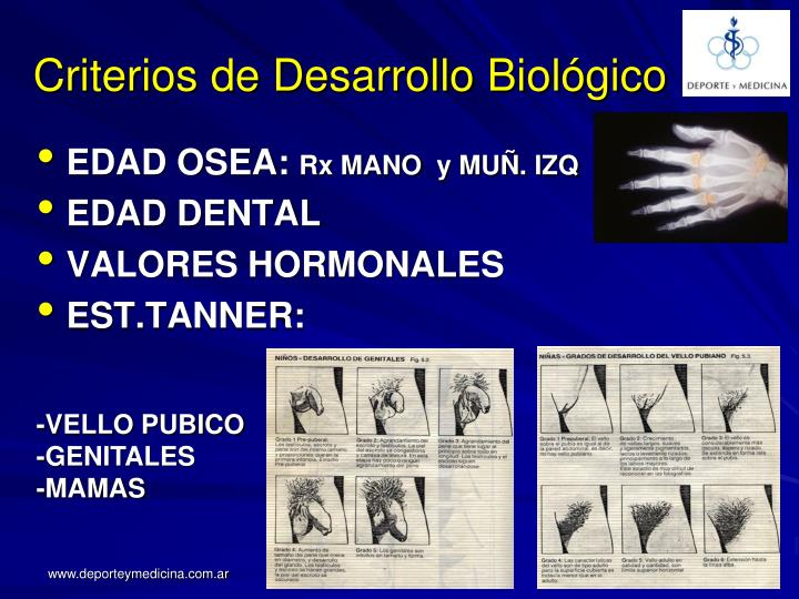 Criterios de Desarrollo Biológico