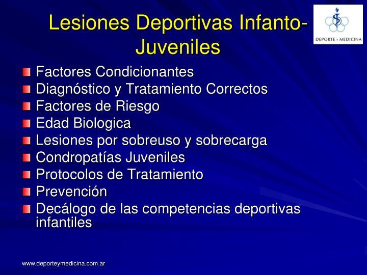 Lesiones Deportivas Infanto-Juveniles