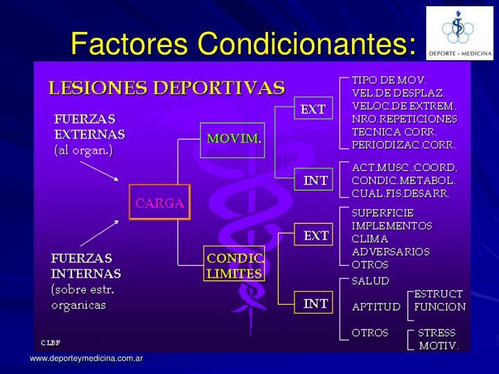 Factores Condicionantes: