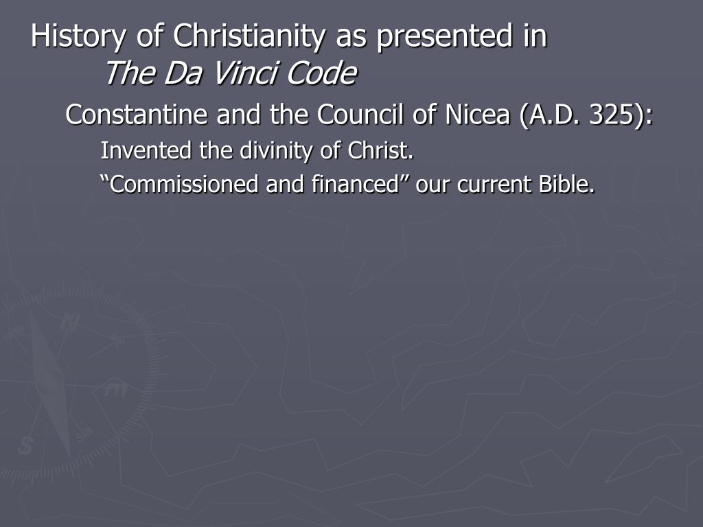 History of Christianity as presented in
