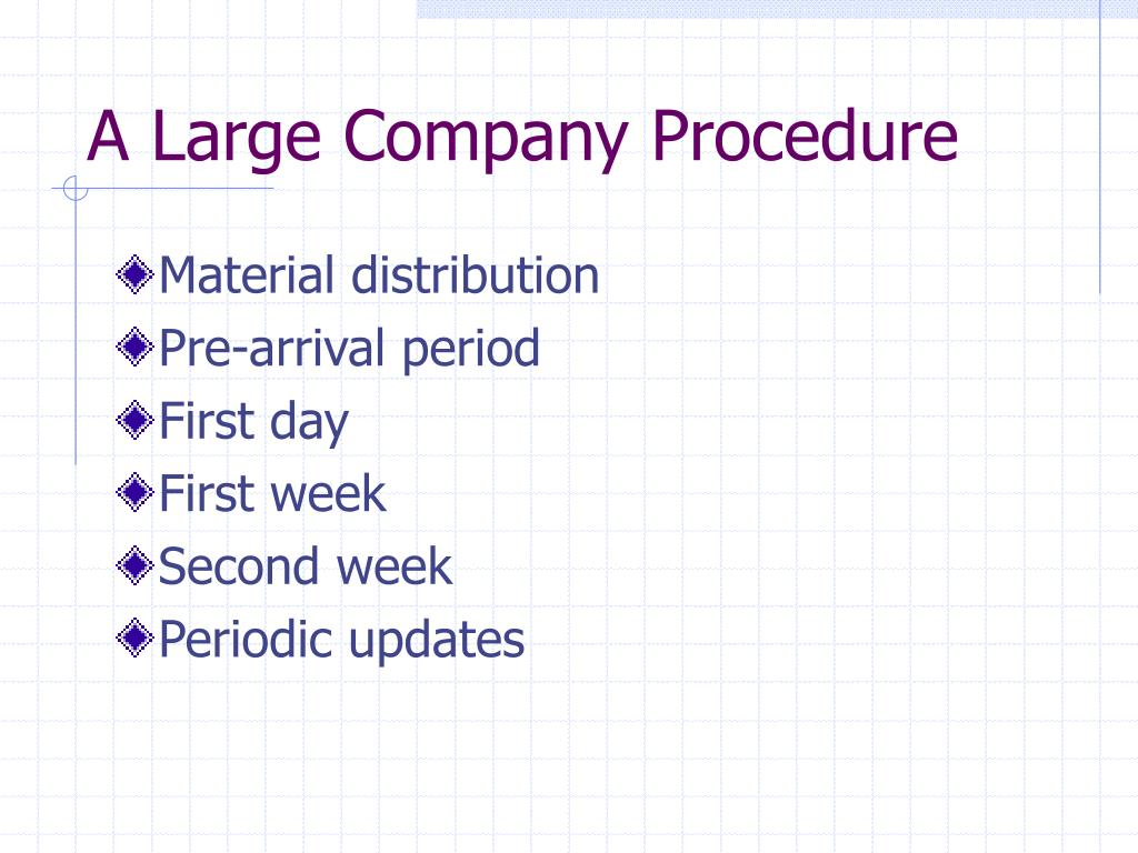 A Large Company Procedure
