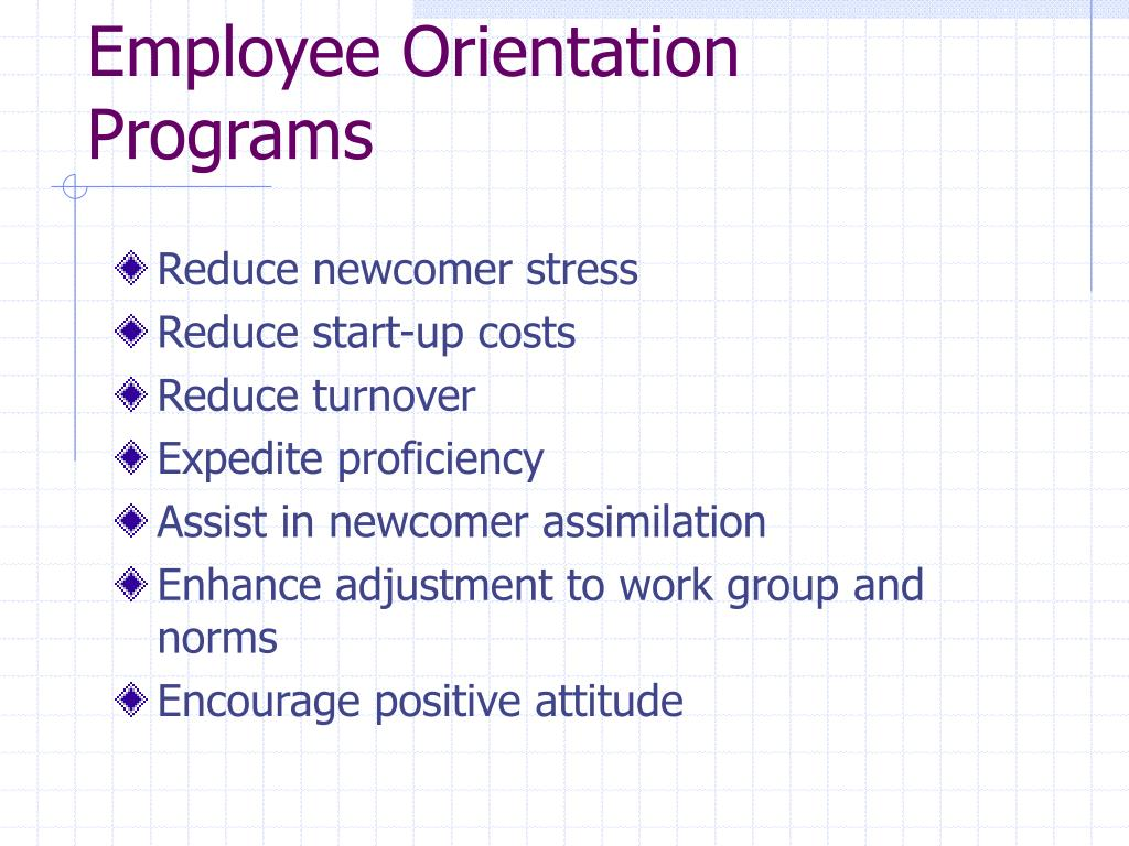 Employee Orientation Programs