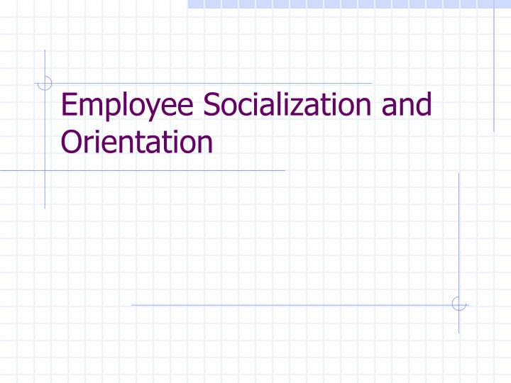 Employee socialization and orientation l.jpg