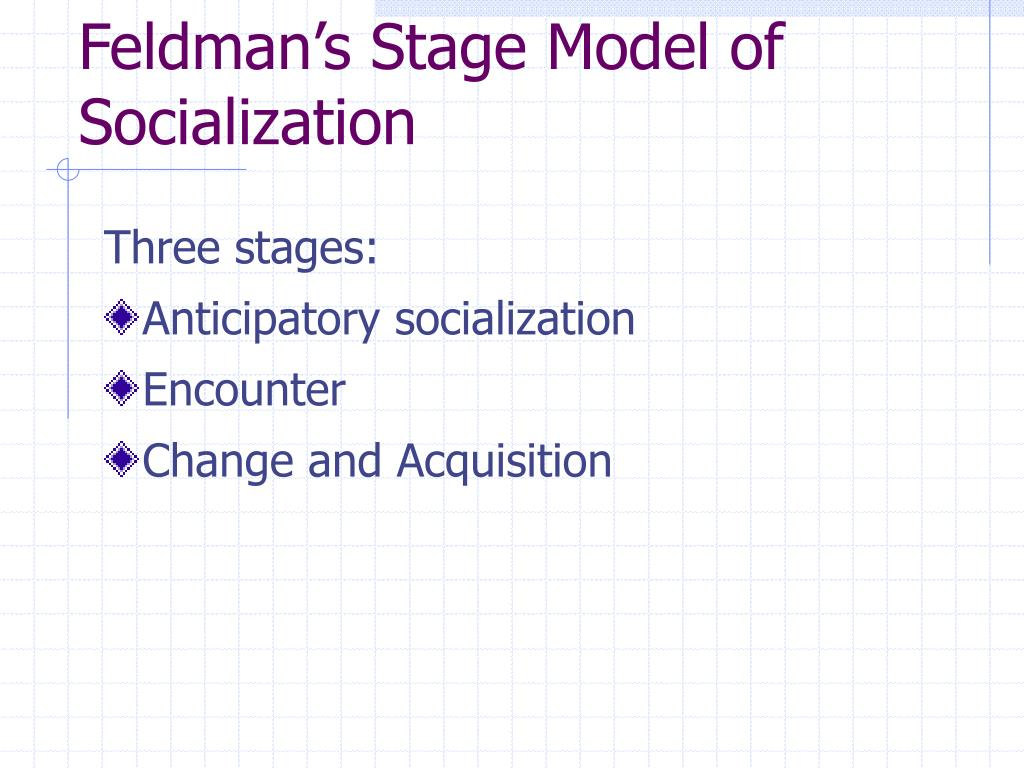 Feldman's Stage Model of Socialization