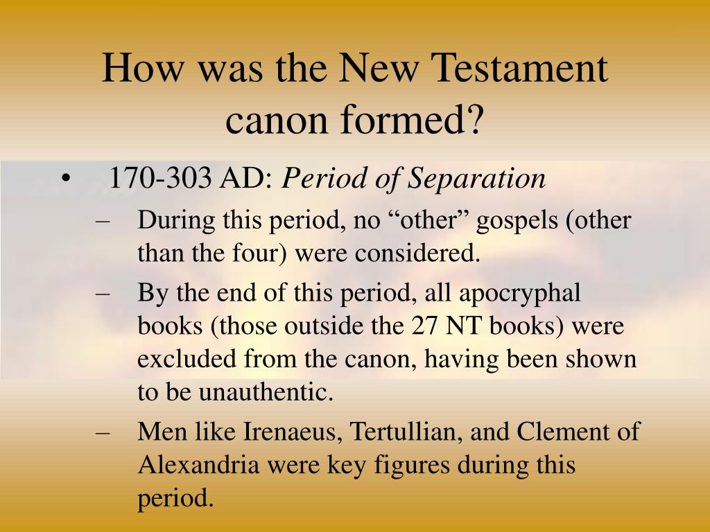 How was the New Testament canon formed?