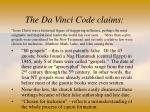 the da vinci code claims32