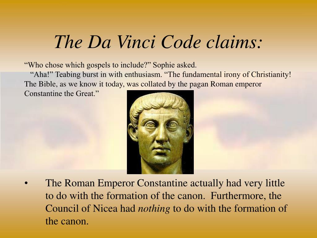 The Da Vinci Code claims: