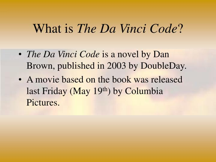 What is the da vinci code