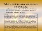 what is the true nature and message of christianity59