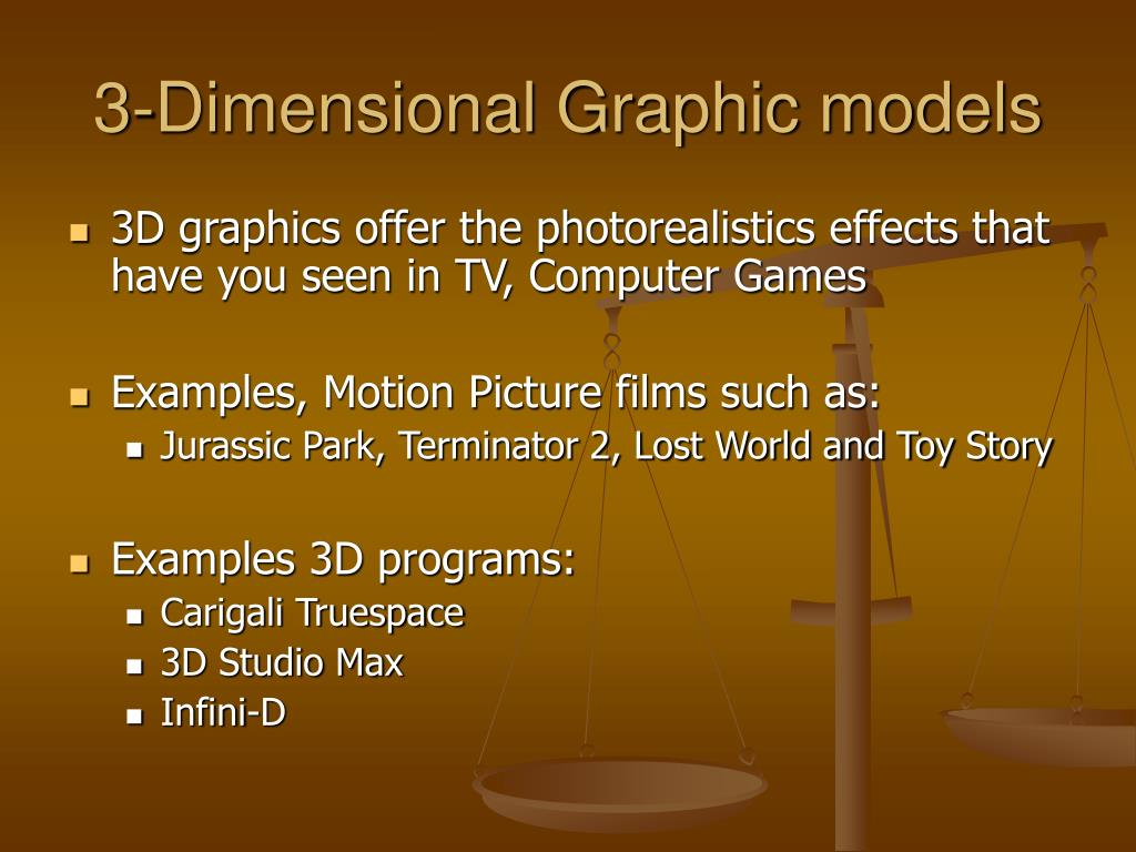 3-Dimensional Graphic models
