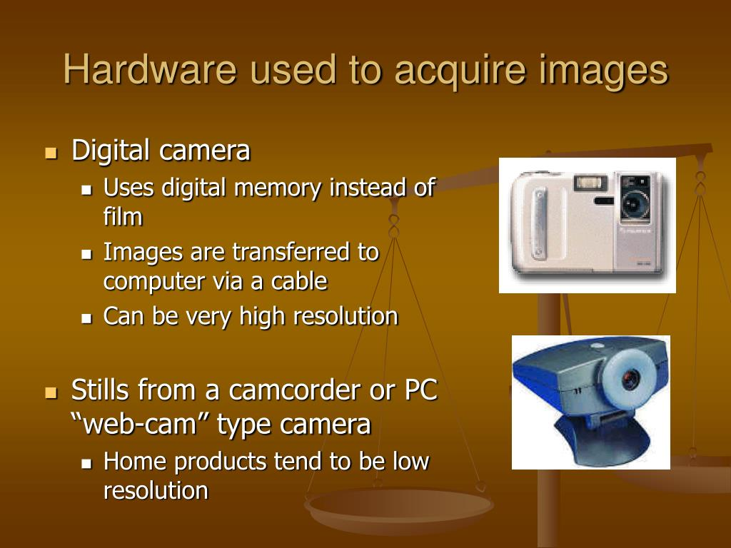 Hardware used to acquire images