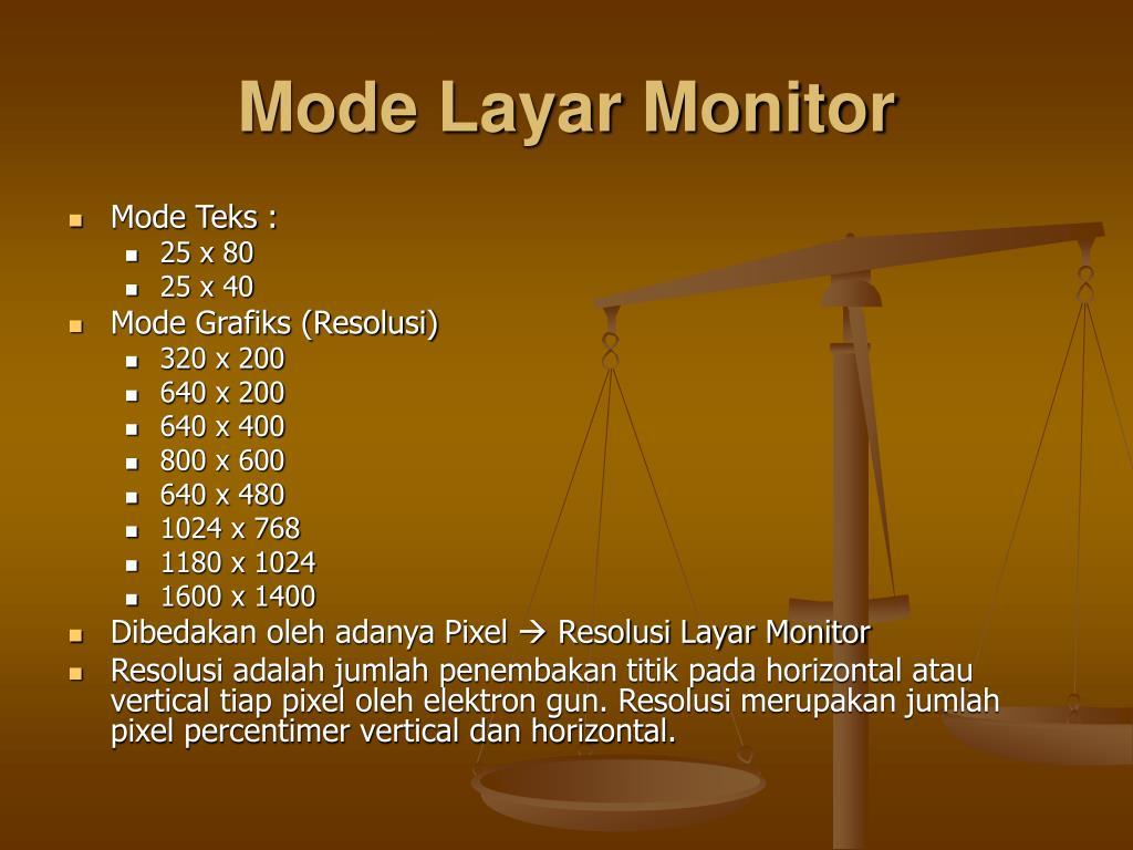 Mode Layar Monitor