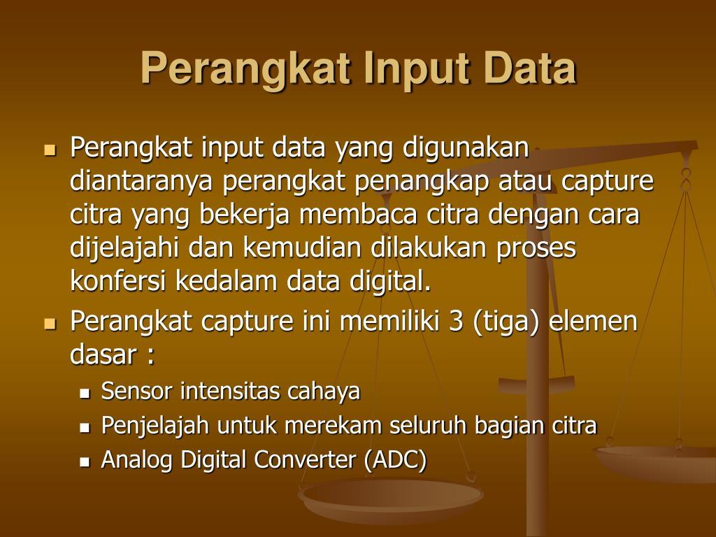 Perangkat Input Data
