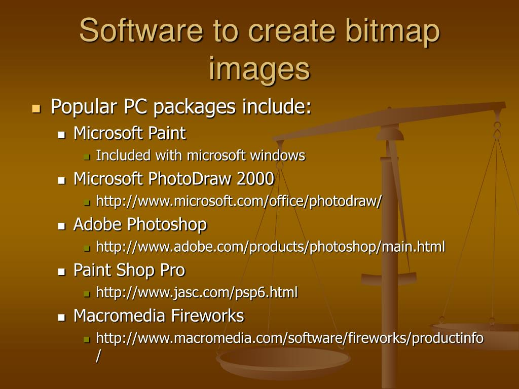 Software to create bitmap images