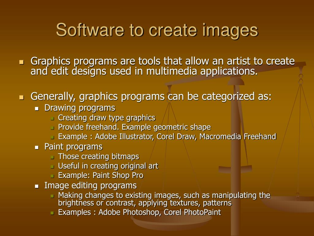 Software to create images