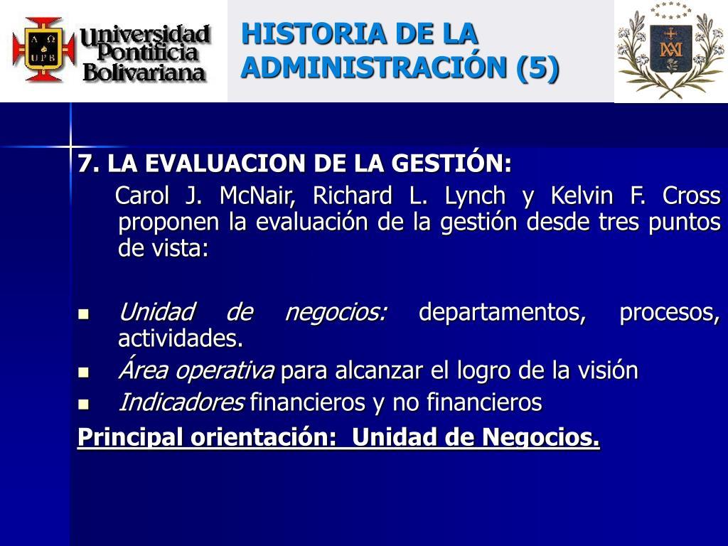 HISTORIA DE LA ADMINISTRACIÓN (5)