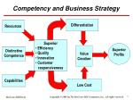 competency and business strategy