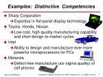 examples distinctive competencies